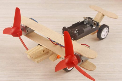 construire un avion télécommandé avec papa