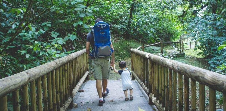 faire une randonnée avec papa
